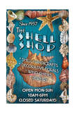 Shell Shop - Vintage Sign Posters by  Lantern Press