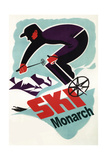 Monarch Mountain, Colorado - Vintage Skier Art by  Lantern Press