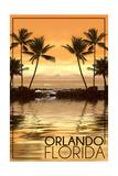 Orlando, Florida - Hammock and Palms Poster by  Lantern Press