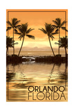 Orlando, Florida - Hammock and Palms Poster
