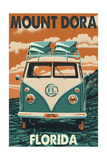 Mount Dora, Florida - VW Van Posters by  Lantern Press