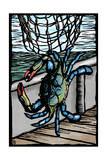 Blue Crab - Scratchboard Prints