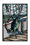 Blue Crab - Scratchboard Prints by  Lantern Press