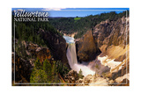 Yellowstone National Park - Lower Yellowstone Falls Aerial Prints by  Lantern Press