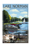 Lake Norman, North Carolina - Boating Scene Poster by  Lantern Press