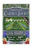Garden Tours - Vintage Sign Print by  Lantern Press