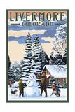 Livermore, Colorado - Snowman Scene Poster