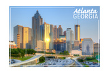Atlanta, Georgia - Skyline during Day Art by  Lantern Press