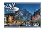 Banff, Canada - Downtown Print by  Lantern Press