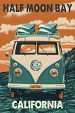 Half Moon Bay, California - VW Van Posters by  Lantern Press