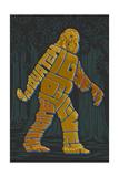 Names of Bigfoot - Typography Prints by  Lantern Press