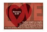 Romans 8:39 - Inspirational Print by  Lantern Press