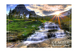 Glacier National Park, Montana - Mt. Reynolds and Sun Rays Posters by  Lantern Press
