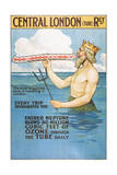 Central London Underground Railway - the Tube Vintage Poster Prints by  Lantern Press