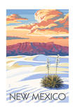New Mexico - White Sands Sunset Prints by  Lantern Press