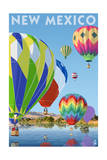 New Mexico - Hot Air Balloons Posters by  Lantern Press