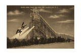Atlantic City, New Jersey - Ocean End Steel Pier Diving Horse Scene - Sepia Version Art by  Lantern Press