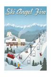 Angel Fire, New Mexico - Retro Scene Poster