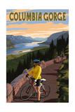 Columbia River Gorge - Bicycle Scene Posters van  Lantern Press