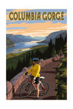 Columbia River Gorge - Bicycle Scene Prints by  Lantern Press