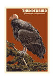 Condor de Californie Reproduction giclée Premium par  Lantern Press