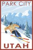 Park City, Utah - Downhill Skier Posters par  Lantern Press