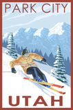Park City, Utah - Downhill Skier Pôsters por  Lantern Press