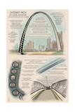 Gateway Arch Technical Prints by  Lantern Press