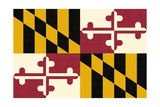 Maryland State Flag Prints by  Lantern Press
