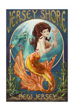Jersey Shore - Mermaid Prints by  Lantern Press