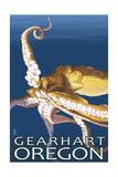 Gearhart, Oregon - Octopus Scene Posters by  Lantern Press