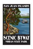 Moran State Park - San Juan Islands, Washington - Scenic Byway Prints by  Lantern Press
