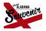 Visited Alabama - Authentic Souvenir Print by  Lantern Press