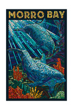 Morro Bay, California - Dolphins - Mosaic Posters by  Lantern Press