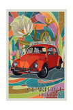 Gearhart, Oregon - VW Bug Prints by  Lantern Press