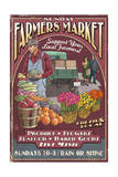Farmers Market - Vintage Sign Poster by  Lantern Press