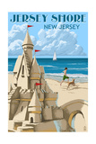 Jersey Shore - Sandcastle Posters by  Lantern Press