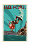 Lake Powell - Wakeboarder Print by  Lantern Press