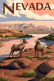 Nevada - Bighorn Sheep Prints