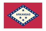 Arkansas State Flag Poster by  Lantern Press