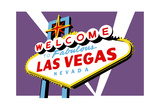 Las Vegas, Nevada - Welcome Sign Art by  Lantern Press
