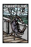 Camano Island, Washington - Dungeness Crab - Scratchboard Prints by  Lantern Press