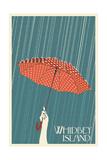 Whidbey Island, Washington - Umbrella Prints by  Lantern Press