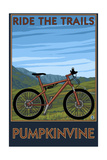 Pumpkinvine - Indiana - Ride the Trails Art by  Lantern Press