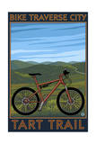 Traverse City, Michigan - Bike Tart Trail Prints by  Lantern Press