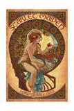 Scarlet Maiden - Hard Apple Cider Poster by  Lantern Press