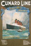 Cundard Line - Royal Mail Steamers - Vintage Poster Prints