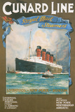 Cundard Line - Royal Mail Steamers - Vintage Poster Prints by  Lantern Press