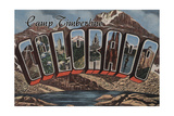 Camp Timberline, Colorado - Large Letter Scenes Art by  Lantern Press