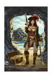 Pirate Pinup Girl Prints by  Lantern Press